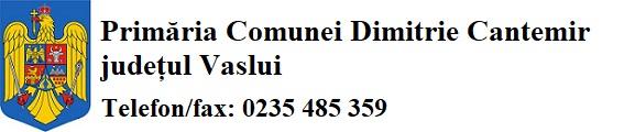 Primăria Comunei Dimitrie Cantemir județul Vaslui